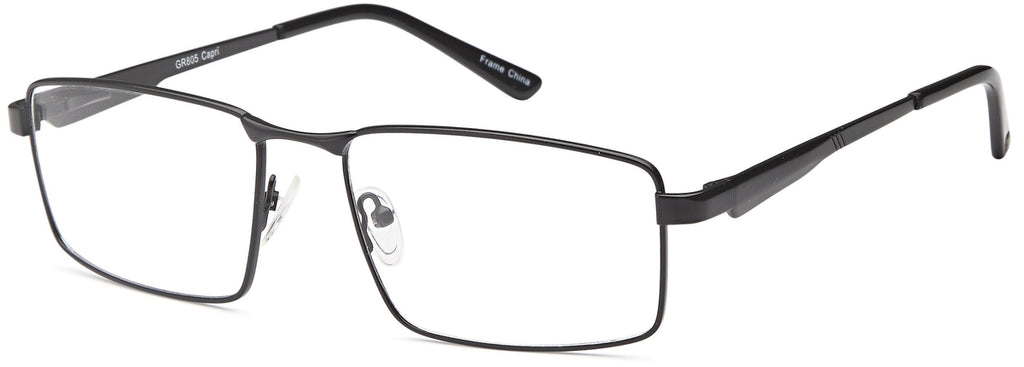 Black-Modern Rectangular GR 805 Frame-Prescription Glasses-Eyeglass Factory Outlet