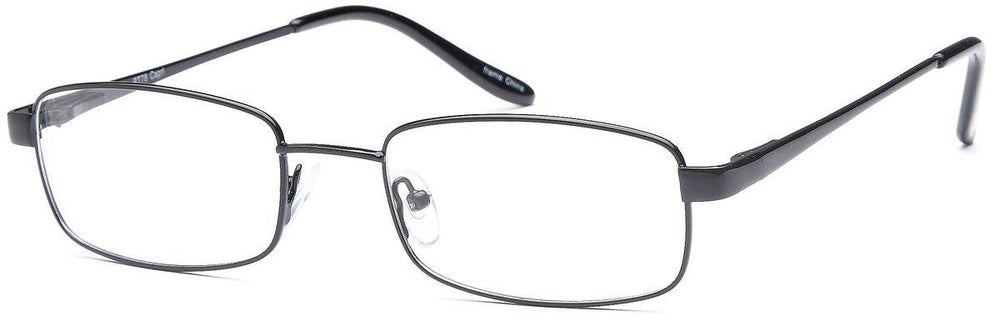 Black-Modern Rectangular PT 78 Frame-Prescription Glasses-Eyeglass Factory Outlet