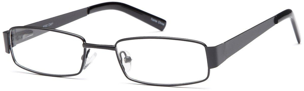 Black-Modern Rectangular PT 87 Frame-Prescription Glasses-Eyeglass Factory Outlet