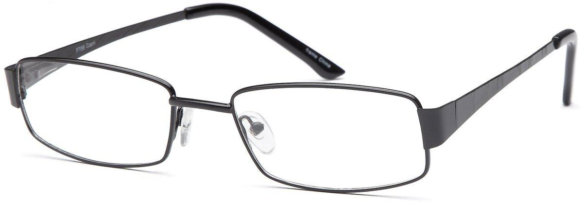 Black-Modern Rectangular PT 88 Frame-Prescription Glasses-Eyeglass Factory Outlet