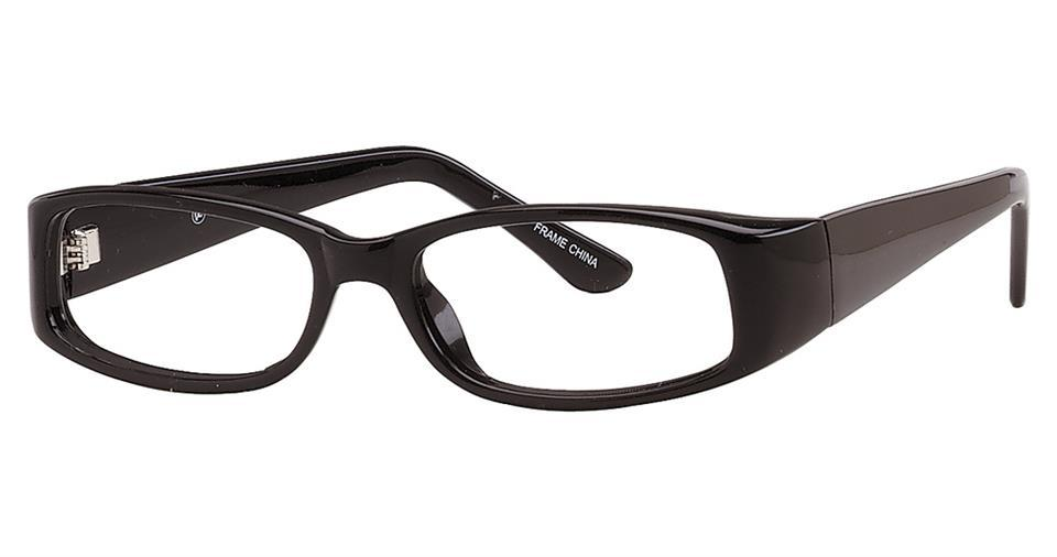 Black-Modern Rectangular Soho 30 Frame-Prescription Glasses-Eyeglass Factory Outlet