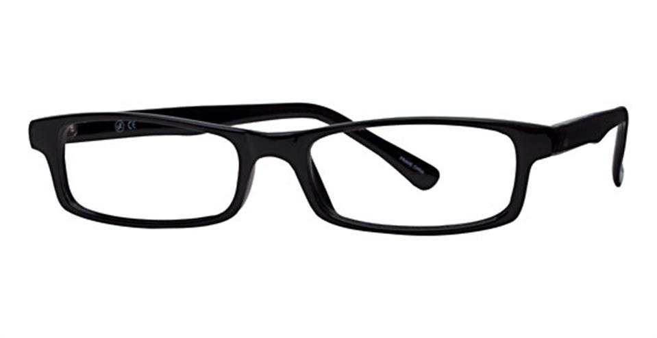 Black-Modern Rectangular Soho 56 Frame-Prescription Glasses-Eyeglass Factory Outlet