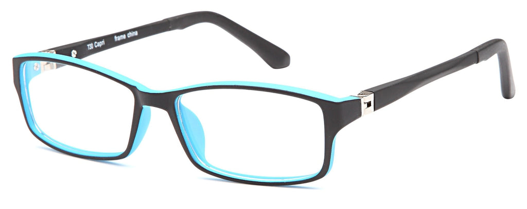 Black-Modern Rectangular T 30 Frame-Prescription Glasses-Eyeglass Factory Outlet