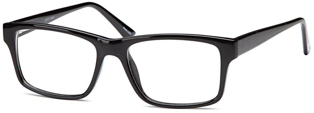 Black-Modern Rectangular US 73 Frame-Prescription Glasses-Eyeglass Factory Outlet