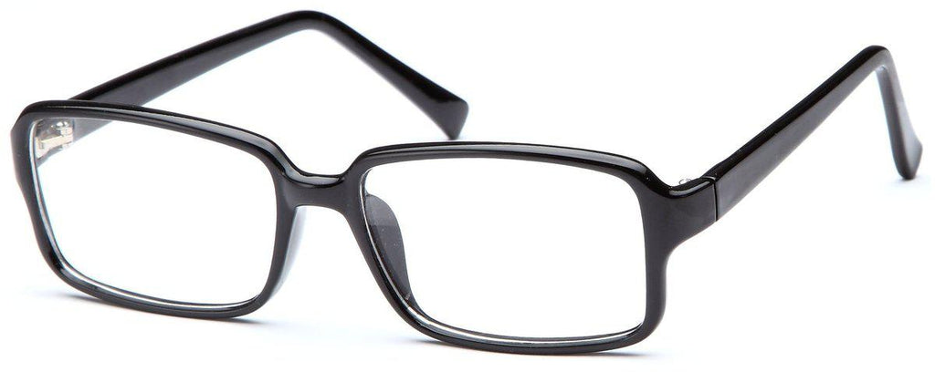 Black-Modern Rectangular US 76 Frame-Prescription Glasses-Eyeglass Factory Outlet