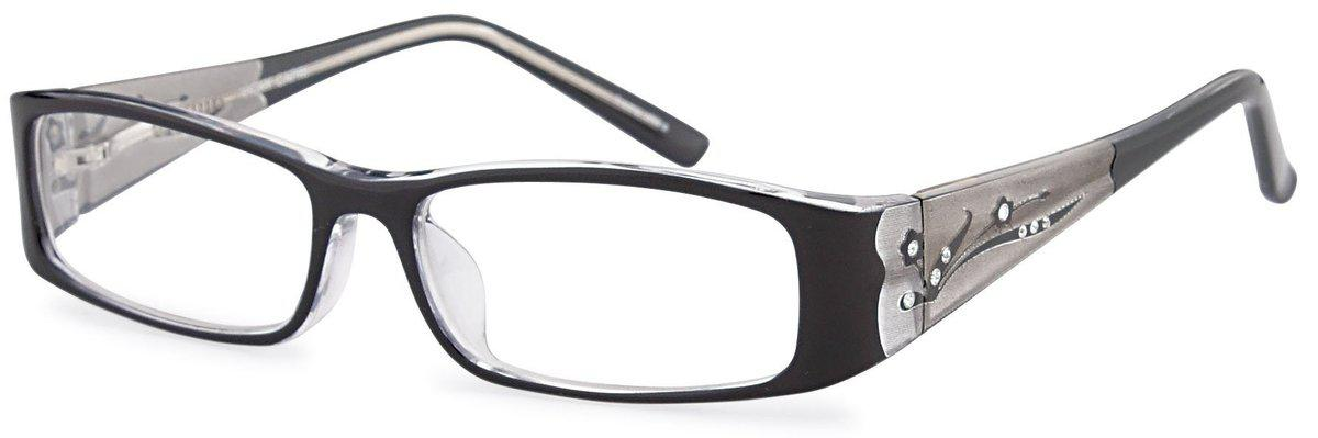 Black-Modern Rectangular Vicky Frame-Prescription Glasses-Eyeglass Factory Outlet