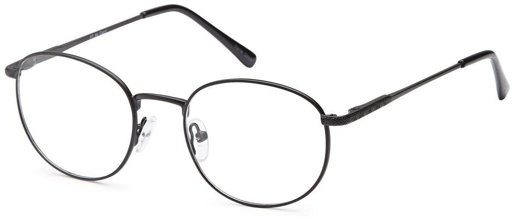 Black-Modern Round PT 94 Frame-Prescription Glasses-Eyeglass Factory Outlet