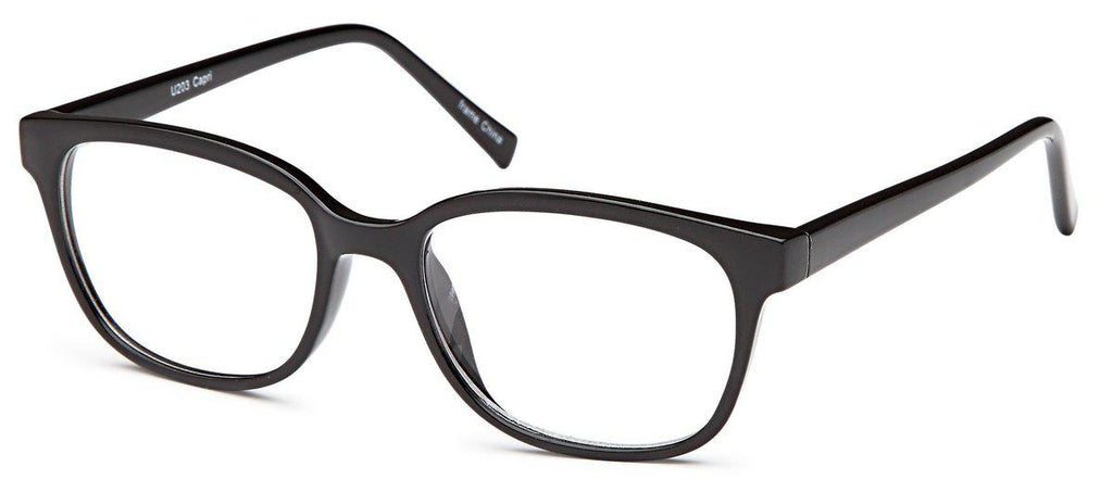 Black-Modern Round U 203 Frame-Prescription Glasses-Eyeglass Factory Outlet