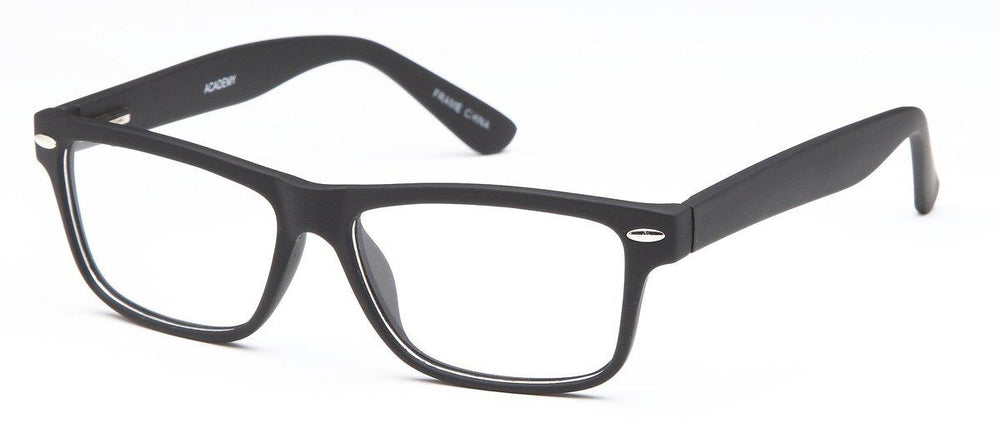 Black-Modern Square Academy Frame-Prescription Glasses-Eyeglass Factory Outlet