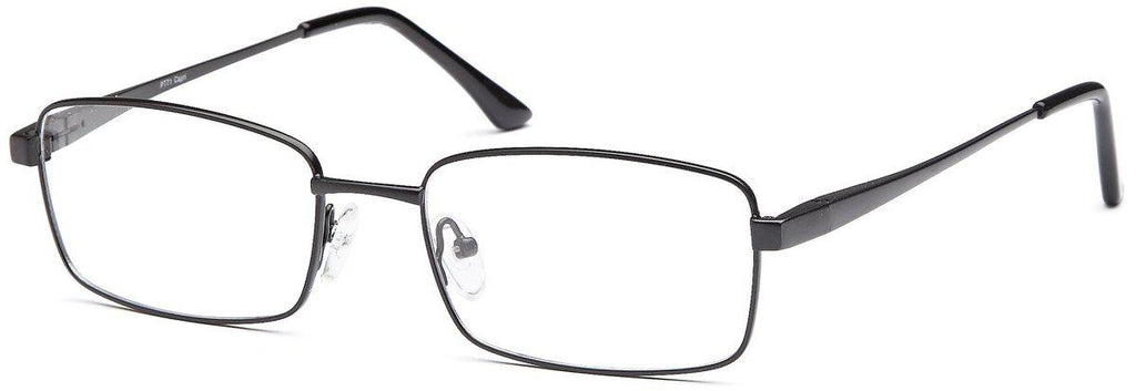 Black-Modern Square PT 71 Frame-Prescription Glasses-Eyeglass Factory Outlet