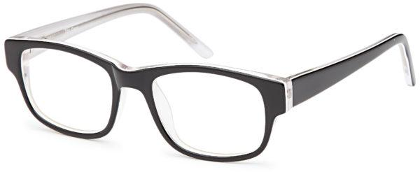 Black-Modern Square T 24 Frame-Prescription Glasses-Eyeglass Factory Outlet