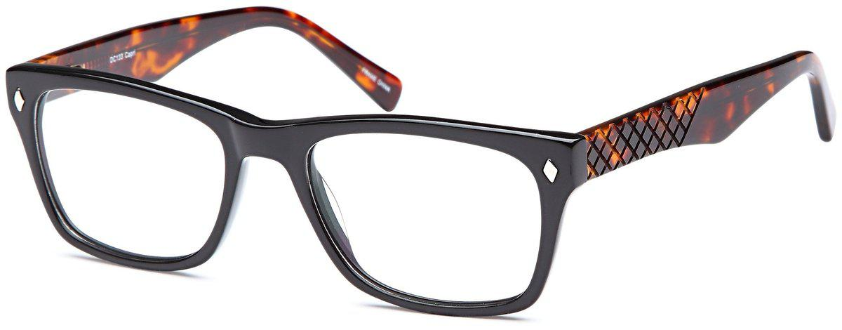 Black-Modern Wayfarer DC 133 Frame-Prescription Glasses-Eyeglass Factory Outlet