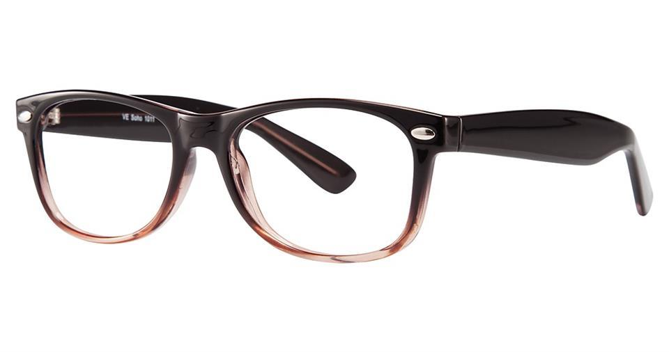 Black-Modern Wayfarer Soho 1011 Frame-Prescription Glasses-Eyeglass Factory Outlet