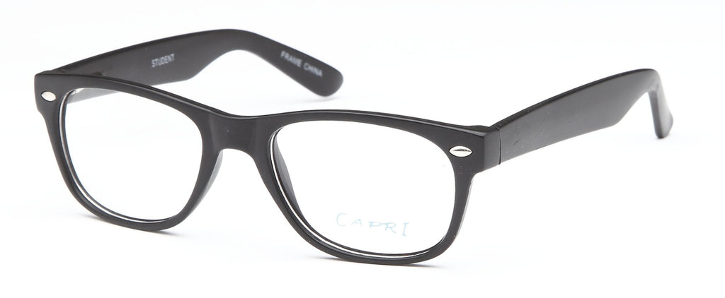 Black-Modern Wayfarer Student Frame-Prescription Glasses-Eyeglass Factory Outlet