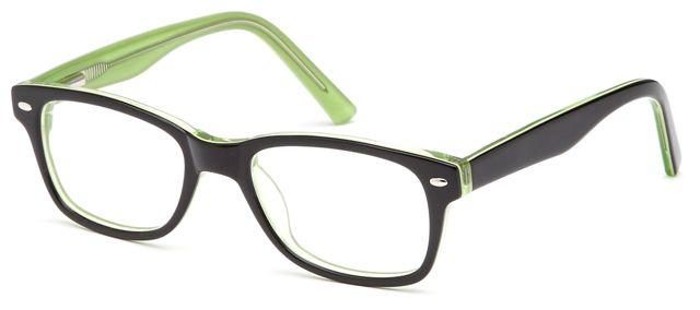 Black-Modern Wayfarer T 19 Frame-Prescription Glasses-Eyeglass Factory Outlet