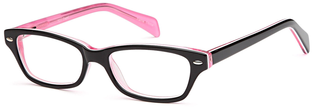 Black-Modern Wayfarer T 21 Frame-Prescription Glasses-Eyeglass Factory Outlet