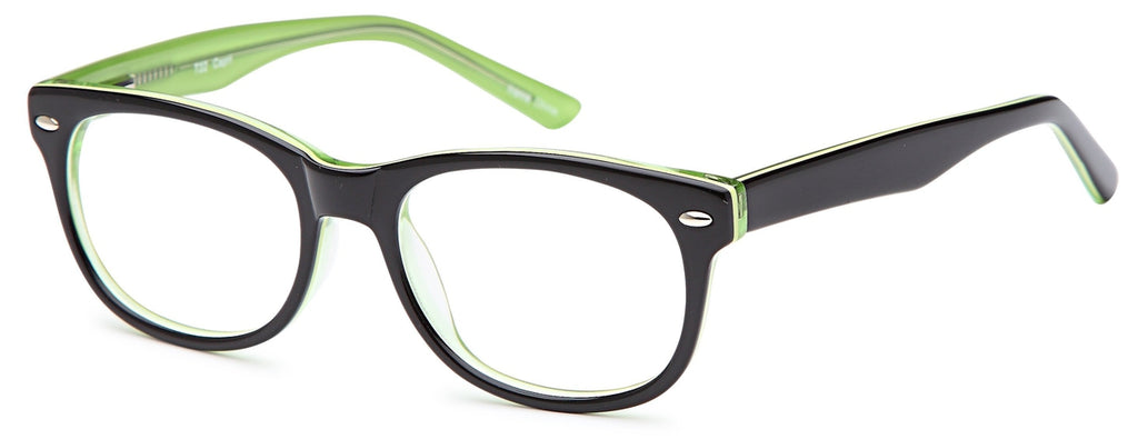 Black-Modern Wayfarer T 22 Frame-Prescription Glasses-Eyeglass Factory Outlet