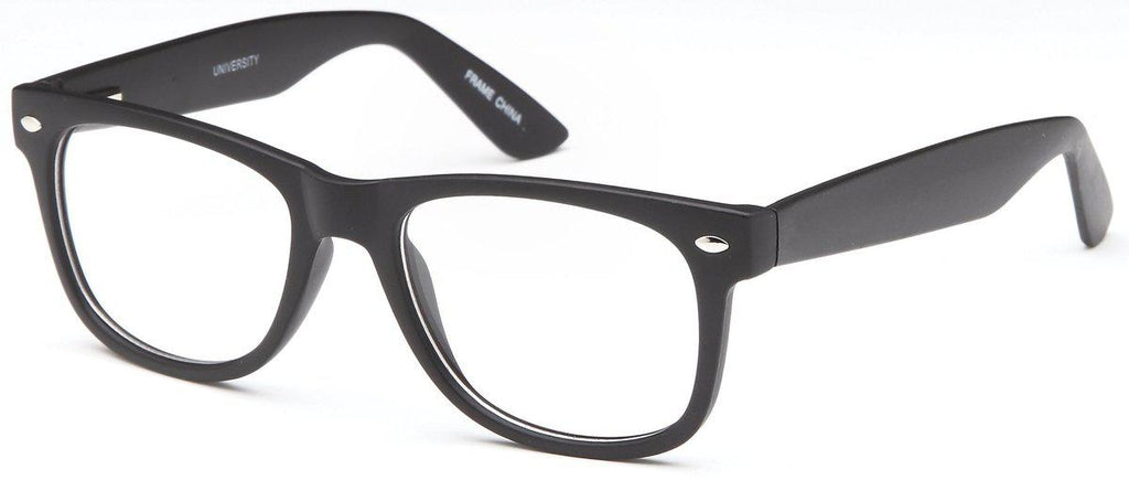 Black-Modern Wayfarer University Frame-Prescription Glasses-Eyeglass Factory Outlet