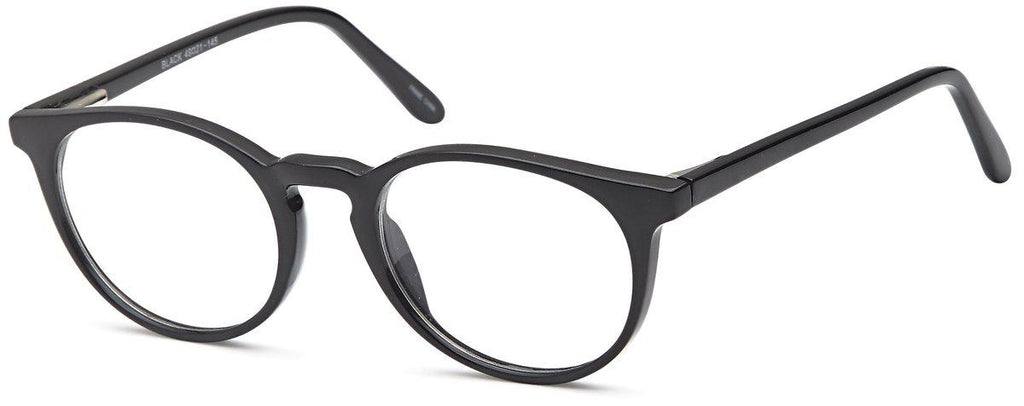 Black-Retro Oval US 82 Frame-Prescription Glasses-Eyeglass Factory Outlet