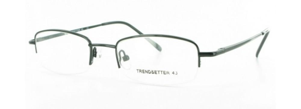 Black-Rimless Rectangular Trendsetter 43 Frame-Prescription Glasses-Eyeglass Factory Outlet
