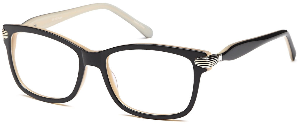 Black-Trendy Cat Eye DC 152 Frame-Prescription Glasses-Eyeglass Factory Outlet