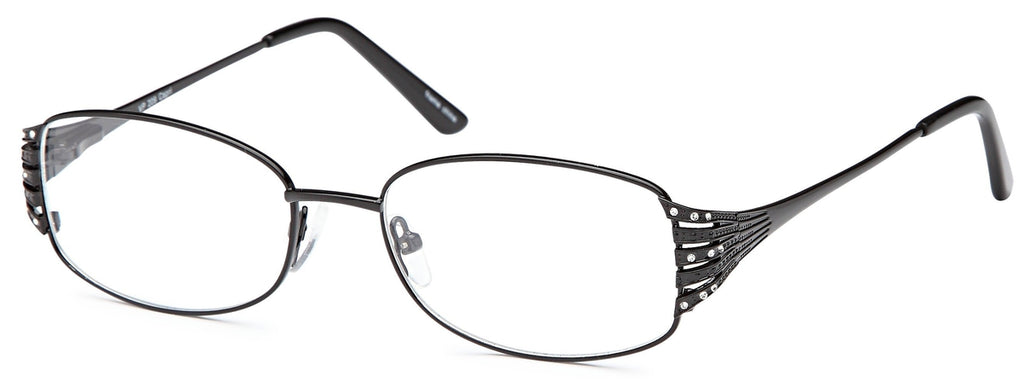 Black-Trendy Oval VP 209 Frame-Prescription Glasses-Eyeglass Factory Outlet