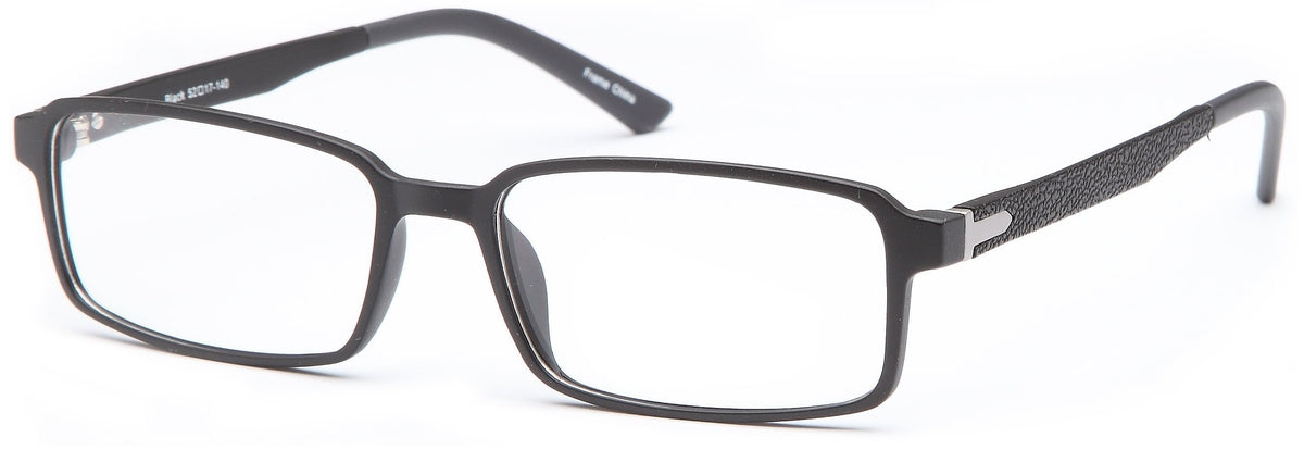 Black-Trendy Rectangular Adam Frame-Prescription Glasses-Eyeglass Factory Outlet