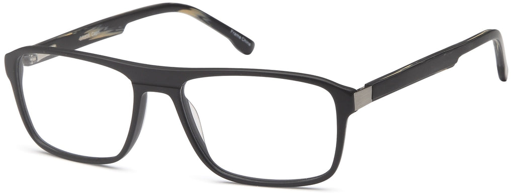 Black-Trendy Rectangular GR 806 Frame-Prescription Glasses-Eyeglass Factory Outlet