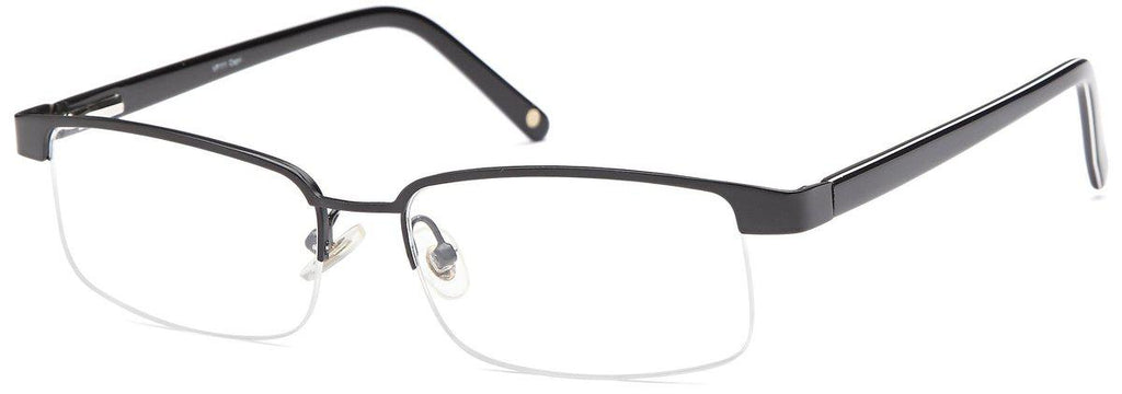 Black-Trendy Rectangular VP 111 Frames-Prescription Glasses-Eyeglass Factory Outlet