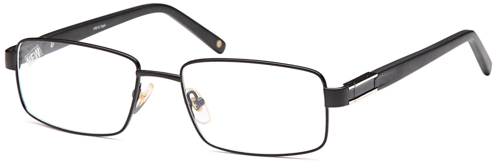 Black-Trendy Rectangular VP 212 Frame-Prescription Glasses-Eyeglass Factory Outlet