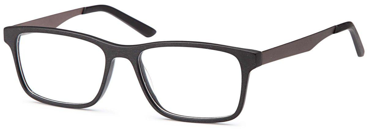 Black-Trendy Square DC 315 Frame-Prescription Glasses-Eyeglass Factory Outlet