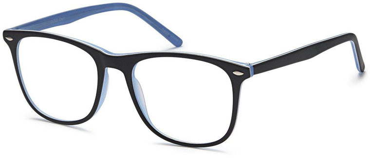 Black-Trendy Square DC 322 Frame-Prescription Glasses-Eyeglass Factory Outlet