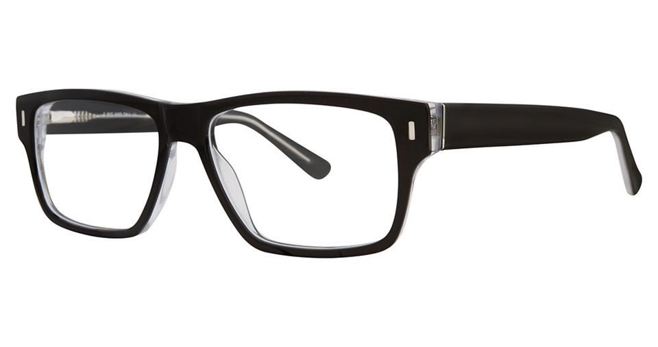 Black-Trendy Wayfarer Big 13 Frame-Prescription Glasses-Eyeglass Factory Outlet