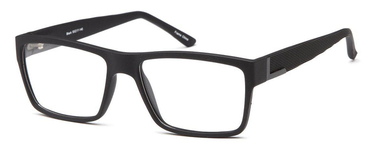 Black-Trendy Wayfarer Evan Frame-Prescription Glasses-Eyeglass Factory Outlet