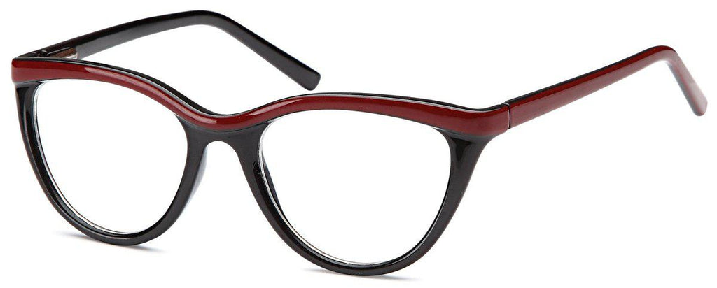 Black/Amber-Funky Oval US 79 Frame-Prescription Glasses-Eyeglass Factory Outlet