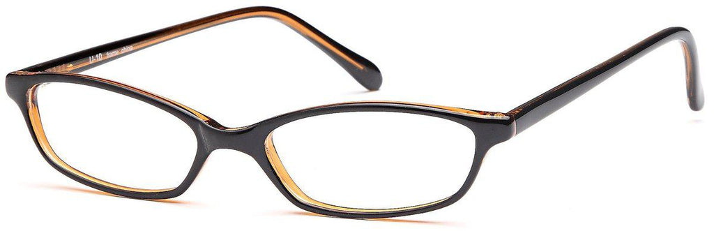Black/Amber-Modern Oval U 10 Frame-Prescription Glasses-Eyeglass Factory Outlet