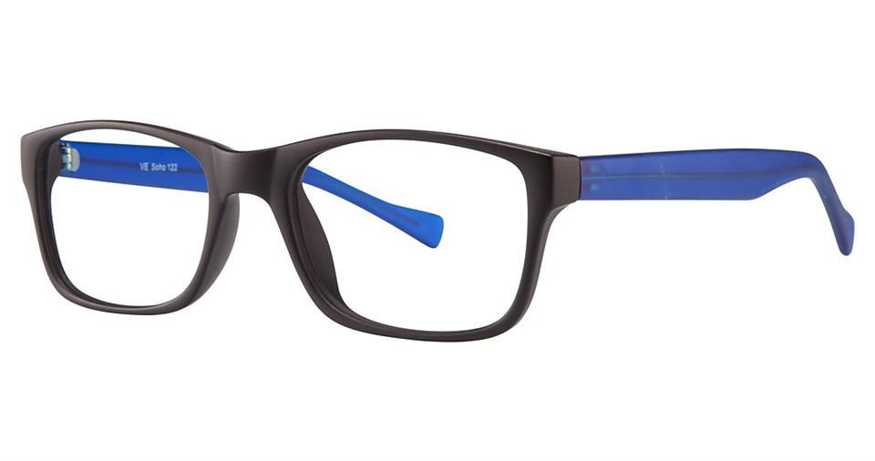 Black/Blue-Modern Wayfarer Soho 122 Frame-Prescription Glasses-Eyeglass Factory Outlet