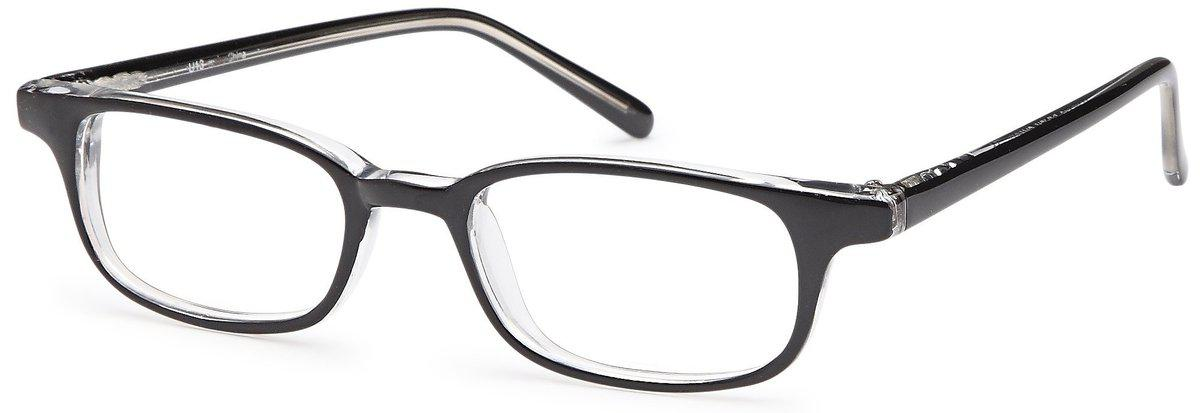 Black/Crystal-Classic Oval U 13 Frame-Prescription Glasses-Eyeglass Factory Outlet