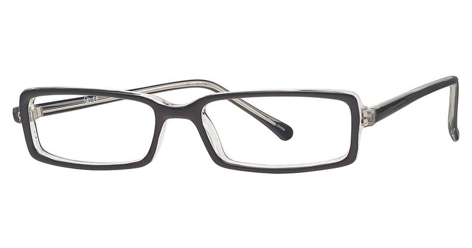 Black/Crystal-Classic Rectangular Soho 70 Frames-Prescription Glasses-Eyeglass Factory Outlet