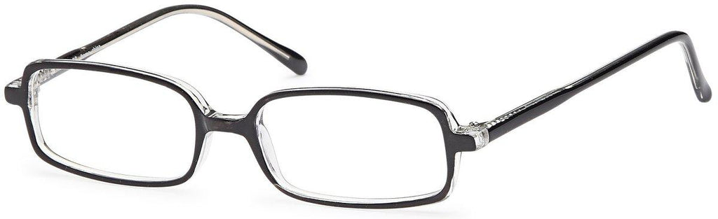 Black/Crystal-Classic Rectangular U 28 Frame-Prescription Glasses-Eyeglass Factory Outlet
