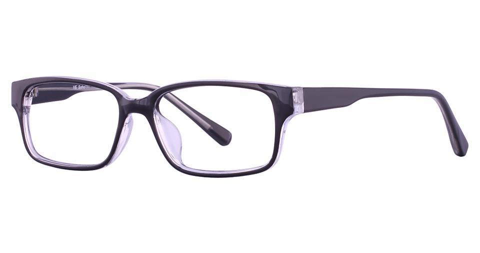 Black/Crystal-Modern Rectangular Soho 111 Frame-Prescription Glasses-Eyeglass Factory Outlet