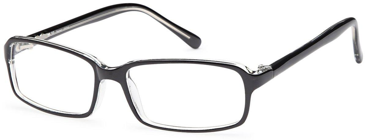 Black/Crystal-U 39-Prescription Glasses-Eyeglass Factory Outlet