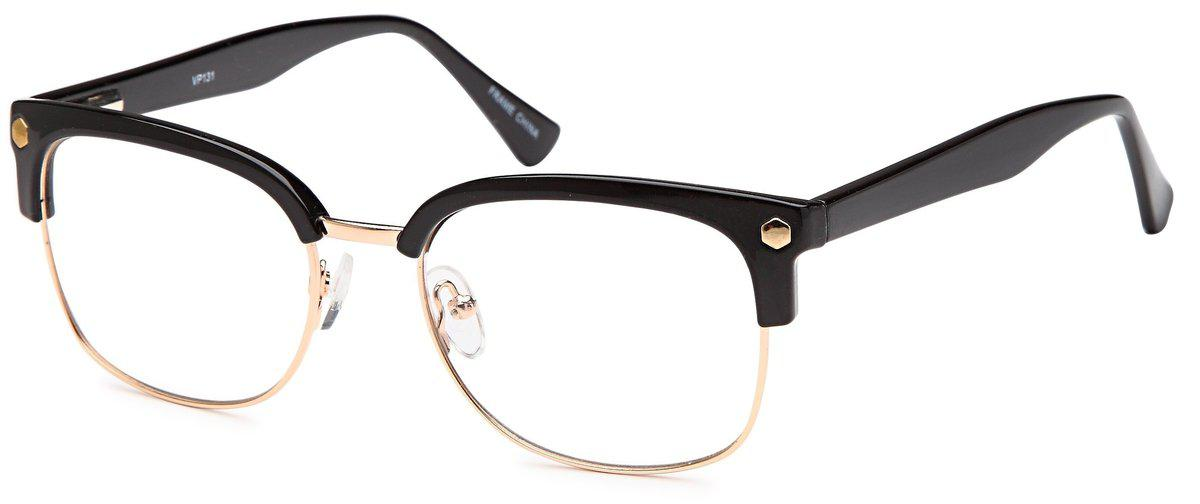 Black/Gold-Club Master VP 131 Frame-Prescription Glasses-Eyeglass Factory Outlet