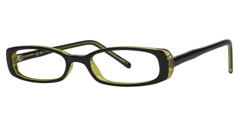 Black/Olive-Classic Rectangular Soho 93 Frame-Prescription Glasses-Eyeglass Factory Outlet