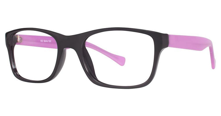 Black/Purple-Modern Square Soho 1004 Frame-Prescription Glasses-Eyeglass Factory Outlet