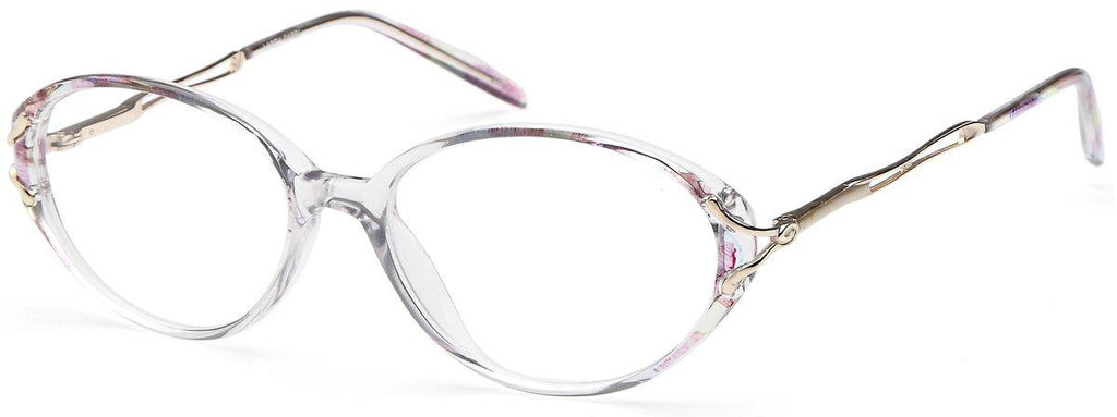 Blue-Classic Oval Lacey Frame-Prescription Glasses-Eyeglass Factory Outlet