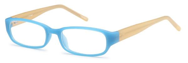 Blue-Modern Oval T 1 Frame-Prescription Glasses-Eyeglass Factory Outlet