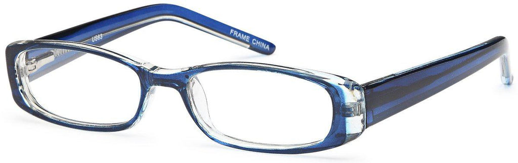 Blue-Modern Rectangular US 63 Frame-Prescription Glasses-Eyeglass Factory Outlet