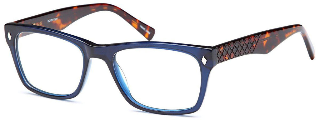 Blue-Modern Wayfarer DC 133 Frame-Prescription Glasses-Eyeglass Factory Outlet
