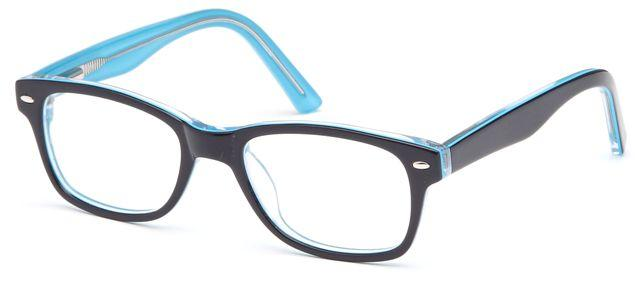 Blue-Modern Wayfarer T 19 Frame-Prescription Glasses-Eyeglass Factory Outlet